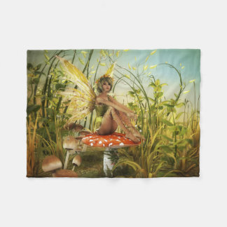 Indian Summer Fairy Small Fleece Blanket