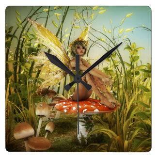 Indian Summer Fairy Wall Clock