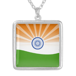 Indian sun silver plated necklace
