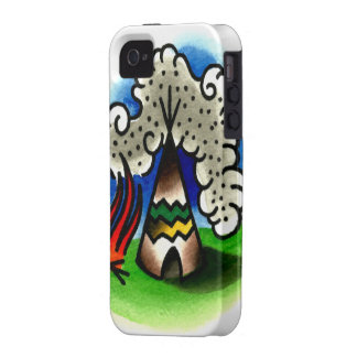 Indian Tee Pee iPhone 4 Covers