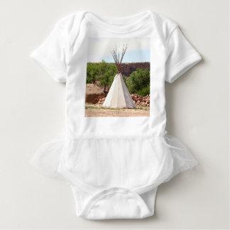 Indian teepee, pioneer village, Utah Baby Bodysuit