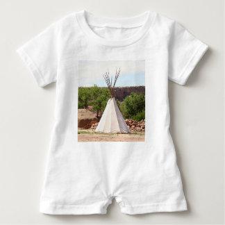 Indian teepee, pioneer village, Utah Baby Romper