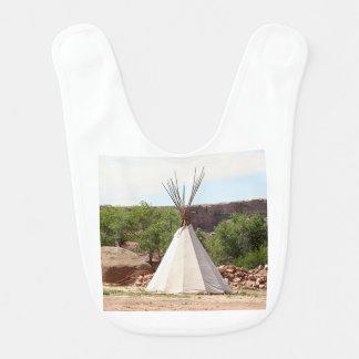 Indian teepee, pioneer village, Utah Bib