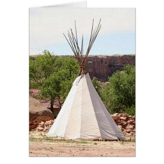 Indian teepee, pioneer village, Utah Card