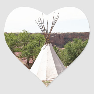 Indian teepee, pioneer village, Utah Heart Sticker