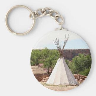 Indian teepee, pioneer village, Utah Keychain