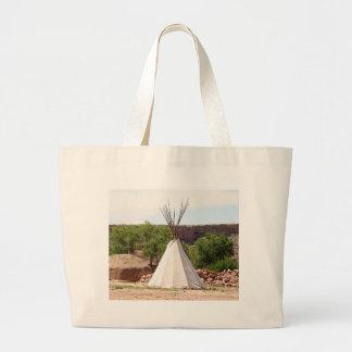 Indian teepee, pioneer village, Utah Large Tote Bag