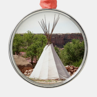 Indian teepee, pioneer village, Utah Metal Ornament