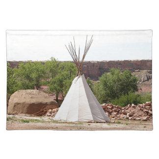 Indian teepee, pioneer village, Utah Placemat