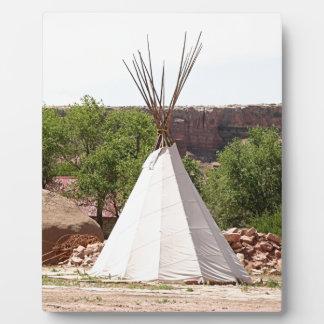 Indian teepee, pioneer village, Utah Plaque