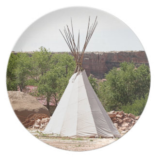 Indian teepee, pioneer village, Utah Plate