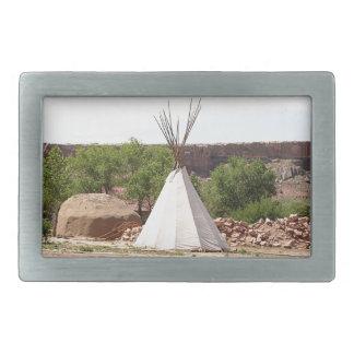 Indian teepee, pioneer village, Utah Rectangular Belt Buckles