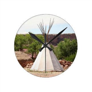 Indian teepee, pioneer village, Utah Round Clock