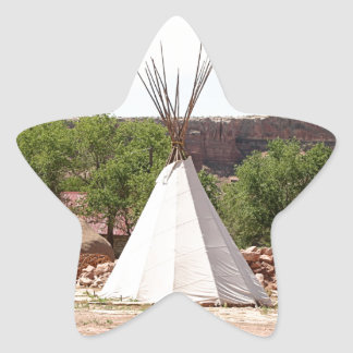 Indian teepee, pioneer village, Utah Star Sticker