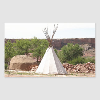 Indian teepee, pioneer village, Utah Sticker