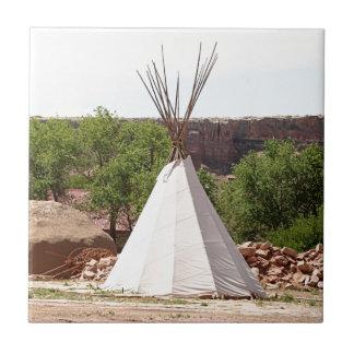 Indian teepee, pioneer village, Utah Tile