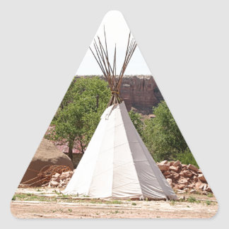 Indian teepee, pioneer village, Utah Triangle Sticker