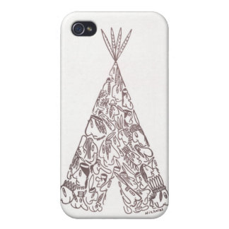 INDIAN TEPEE by NICHOLAS iPhone 4/4S Cases
