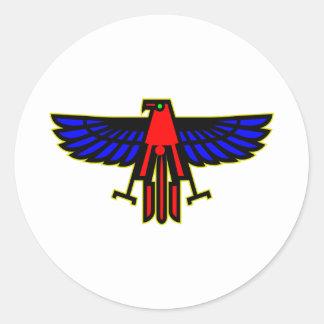 Indian Thunderbird Totem Classic Round Sticker