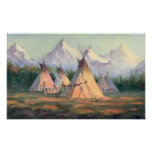 INDIAN TIPI CAMP by SHARON SHARPE Poster