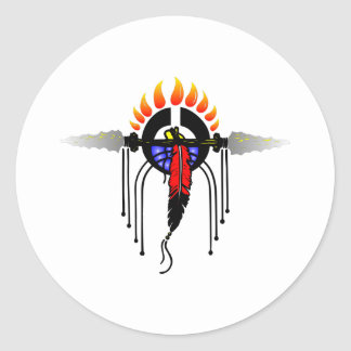 Indian Totem Classic Round Sticker
