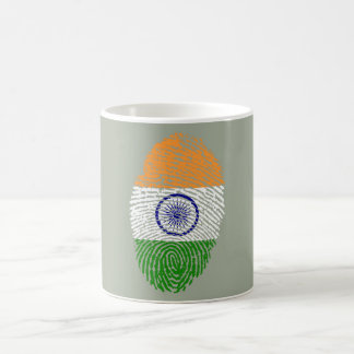 Indian touch fingerprint flag coffee mug