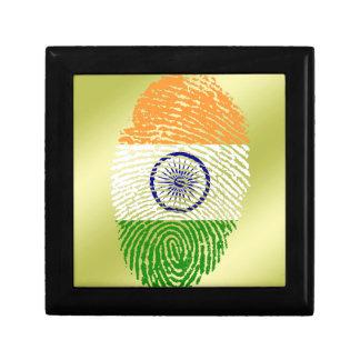 Indian touch fingerprint flag keepsake box