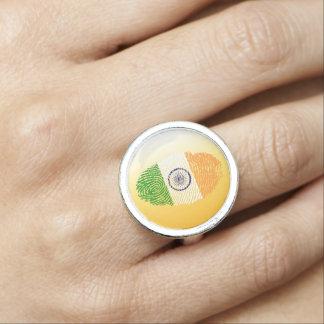 Indian touch fingerprint flag photo ring