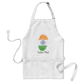 Indian touch fingerprint flag standard apron