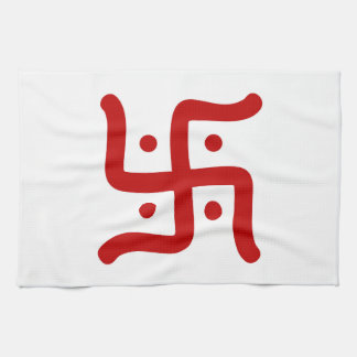 indian traditional hindu swastika symbol religion kitchen towel