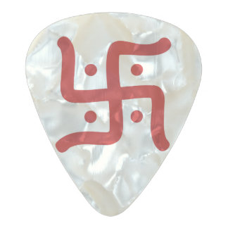 indian traditional hindu swastika symbol religion pearl celluloid guitar pick