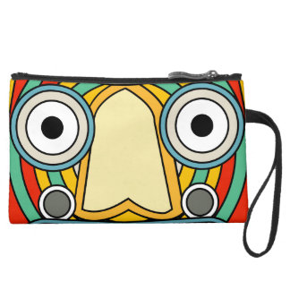 indian tribal suede wristlet