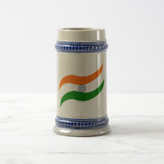 Indian undulating flag beer stein