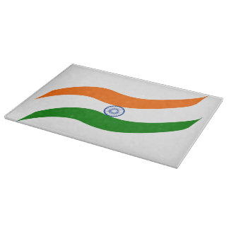 Indian undulating flag cutting board
