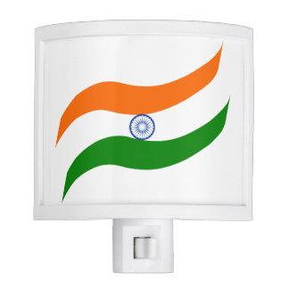 Indian undulating flag nite light