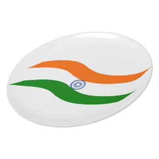 Indian undulating flag party plates