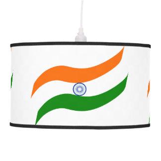 Indian undulating flag pendant lamp