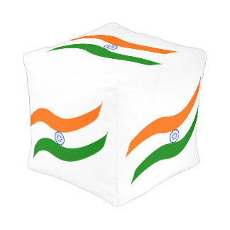 Indian undulating flag pouf