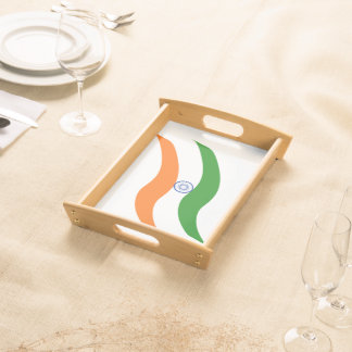 Indian undulating flag serving tray