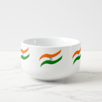 Indian undulating flag soup mug
