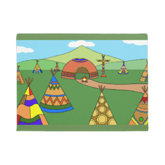 Indian Village Doormat