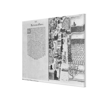 Indian Village of Secoton Gallery Wrapped Canvas
