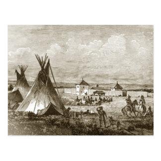 Indian Village Postcard