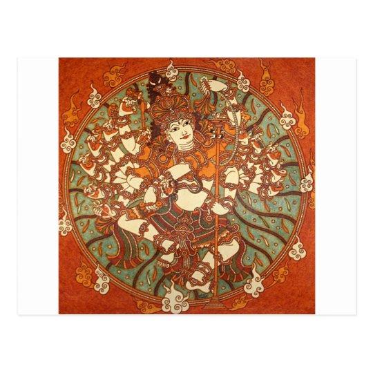 INDIAN VINTAGE MYTHOLOGY MURAL POSTCARD