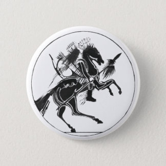 Indian Warrior black - Indian Button