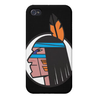 Indian Warrior Head Covers For iPhone 4