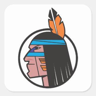 Indian Warrior Head Sticker