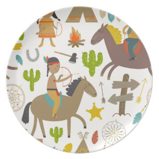 Indian wild duck cowboy.jpg party plates
