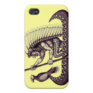 Indian with eagle graphic art cool iphone case case for iPhone 4