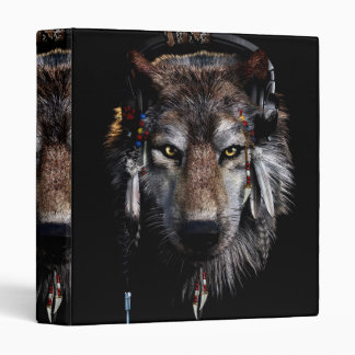 Indian wolf - gray wolf 3 ring binders